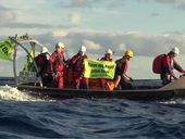 GREENPEACE says its six protestors aboard the Korean-bound coal ship MV Meister have no intention of getting off.