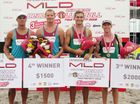 Three prominent Tauranga beach volleyballers were in the money in the latest event on the Asian Beach Volleyball Tour.