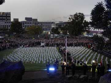 Thousands of people paused to remember the country's war dead in Anzac Day ceremonies across New Zealand yesterday. 