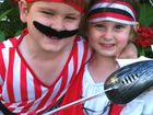LITTLE CHAMPS: Lochlan Zanatta and his sister Issy are ready for the pirate-themed fundraiser on Sunday.