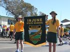 Injune State School played a big role in the local Anzac Day parade as students joined the march down the street.