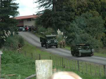 About 30 members of the World War II Historical Re-enactment Society acted out the Battle of Crete for an audience of about 600 on Saturday and Sunday.