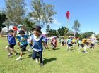 SPIRITS were high and the kites – well, most of them were too – as Tivoli State School marked Autism Awareness Month.