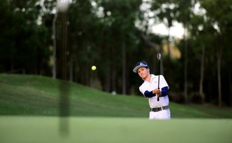 Golf player Louis Dobbelaar, 11, of Brookwater.