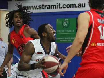 Action from the Cyclones and Rockets' pre-season game against Mackay.  Photos CHRIS ISON