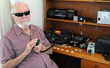 Gympie Amateur Radio Group member Allan Booth, 90, is a master of morse code and uses radio to chat with friends around the world.