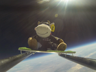 Eva the mascot cow is on her way back to Tauranga after being lifted more than 36,500m to the edge of space.