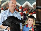 FLUFFY FRIENDS: Peter McCarthy and his son Noah McCarthy-Bache of Pearces Creek with alpacas Stardash and Shesho.