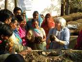 Farming skills practised in Hawke's Bay have been modelled in northern India by Hohepa farm manager Grant Hughes and organics tutor Rachel Pomeroy.