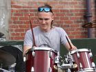 There was no missing the start of NZ Music Month, as drummer Jordan Tredray kicked it off in Library Square with a solo drum performance.