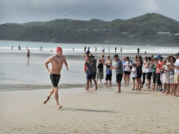 More than 1,700 competitors took part in today&#39;s Byron Bay Ocean Swim 2013. Photos by Mireille Merlet-Shaw