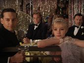 From left, Tobey McGuire, Leonardo DiCaprio, Carey Mulligan and Joel Edgerton in a scene from the movie The Great Gatsby, a Warner Bros. Pictures release.