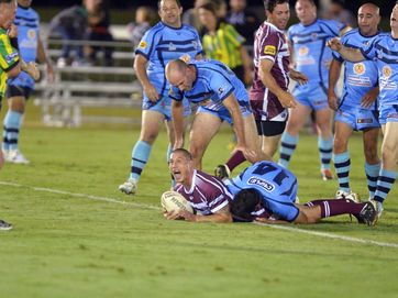Rugby League Legends of League Qld v NSW at Stockland Park.