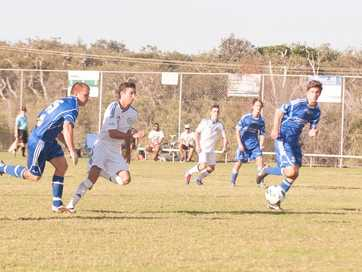 The best of the action from Woolgoolga's 1-1 draw with Northern Storm at High Street fields.
