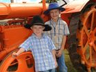AGROTREND BOYS: Brandon and Nicholas Witcher stand next to a 1938 Standard N Fordson tractor.