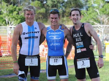 Action from the 2013 Hervey Bay Triathlon.