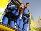 Natasha Collett is afraid of heights but she and son Aiden, 16, are planning a parachute jump to raise cash for a women's shelter.