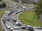 THE Federal Government will spend $637 million on Queenslands Bruce Hwy in the next fiscal year, an all-time record for the states main transport corridor.