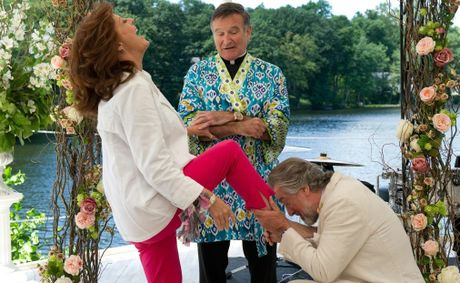 Susan Sarandon, Robin Williams and Robert De Niro in a scene from the movie The Big Wedding.