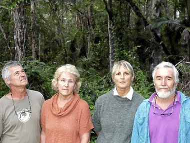 HORRIFIED: Residents Greg and Margaret Onions, Jan Johnston and Jim Moore say the council's plan to remove bats from Cassia Wildlife Corridor encompasses totally destroying all its trees.
