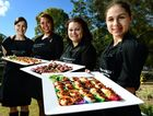 Redbank Plains High School Platters on Willow coordinator and catering teacher Kara Pulou (left) with year 12 students from left, Melika Leslie, Janeeka Hill, and Vanessa Evans.