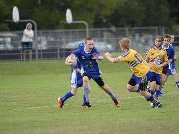 Under 13's rugby league match between Grafton and Marist Brothers at McKittrick Park on Saturday