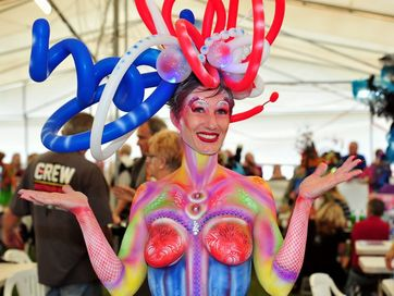It was all a flurry of colour and fun at the Australian Body Art Carnivale 2013.