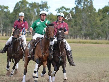Three of the major finals at the Cunningham Polocrosse Carnival at the Bony Mountain Recreation Reserve.