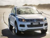 Touareg: Nomadic folk who roam the Sahara Desert with their herds; also, a tasty SUV that's at home on the sand or in Auckland's big wet.