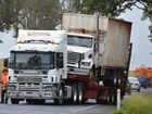 A TRUCK rolled over between Kingaroy and Nanango this morning.
