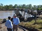 Queensland Community Recovery Minister David Crisafulli announced on Tuesday the infrastructure for the Gayndah&#39;s water pump would be relocated.