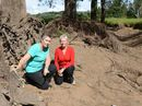 AMAMOOR Creek Rd residents Sharen Armstrong and Christene Andersen have had enough of flood erosion problems on their properties and want a permanent fix.