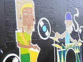 New street art appearing in Carrington St by Back Alley Gallery artist Julla.