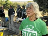 SHE has biked from Rockhampton to Lismore and protested at coal seam gas fields. Now June Norman will complete a journey on foot from Cairns to Gladstone.