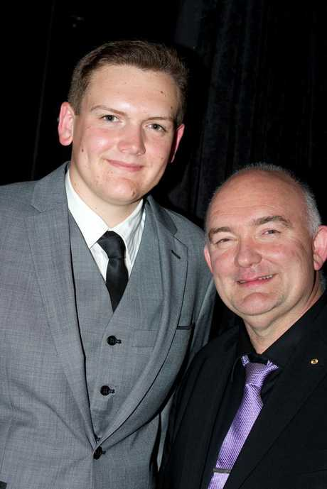 Simon Drew (left) with Aussie jazzman James Morrison at Generations in Jazz.