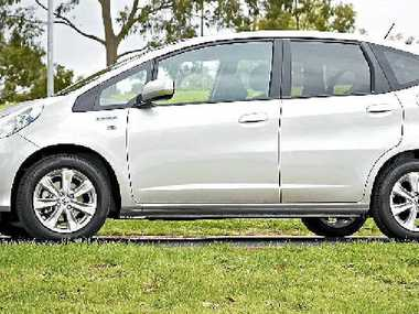 The Honda Jazz Hybrid. 
