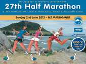 Mt Joggers & Walkers 27th Half Marathon event and 10km and 5km run, walk or wheelchair options.  Also Kids K event - gold coin. $20 for 5km,10km; $30 for 21.1km