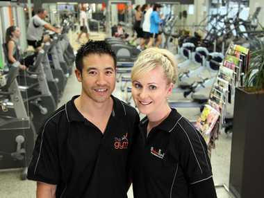  Lindsay and Lisa Chan, owners of The Gym, say that gym-goers want personal attention, not on-screen DVDs.