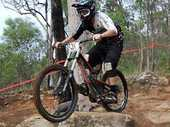 LUCKY BREAK: Downhill mountain bike rider Liam Paiaro stands beside his bike while recovering from three broken vertebrae.