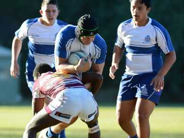St Edmund's versus St Peter Claver College on Saturday.