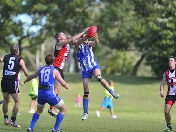 BITS Saints demolished Brothers 205-22 in Saturday's A-grade AFL match.