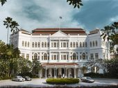 Raffles Hotel in Singapore provides colonial-style comfort for travellers.