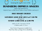 Choral Concert by the Bundaberg Orpheus Singers featuring angel songs and music by Haydn & Faure to Billy Joel & Andrew Lloyd Webber (and more!)