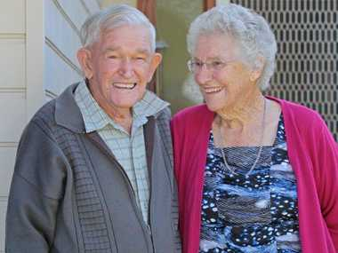 Palmwoods residents Harry and Dorothy Clewett celebratin g their 69th wedding anniversary.