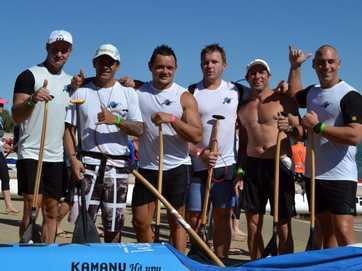 The 2013 Outrigger Canoe (OC6) National Marathon Titles at Mooloolaba.