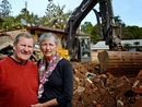 THE historic Mt Warning Hotel has come crashing to the ground.