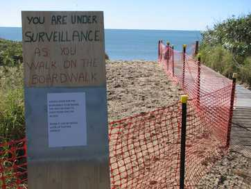 RULES BEACH: Last week work begun on creating access to Rules beach in Baffle Creek. So far a pedestrian walkway has been built but locals are concerned it is in the wrong position and will hinder vehicle access.