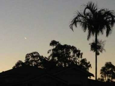 This image of the unidentified flying object was was captured by reader Chelly Milzewski on Saltwater Creek Rd in Maryborough about 5.20pm on Monday.