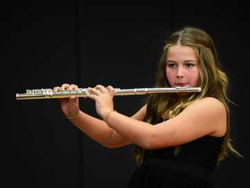 Young musicians perform during the Instrumental section of the Ipswich Junior Eisteddfod.