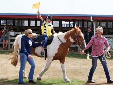 A member of the Central Taranaki Riding for the Disabled group at the annual RDA Regional Games held in Hawera in March.